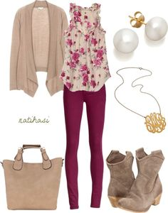 """""""Floral Spring Outfit"""" by natihasi on Polyvore"""