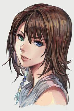 by Hungry Clicker Yuna Final Fantasy, Final Fantasy Girls, Final Fantasy Artwork, Final Fantasy Characters, Fantasy Series, Fantasy World, Female Characters, Yuna Cosplay, Anime Cosplay