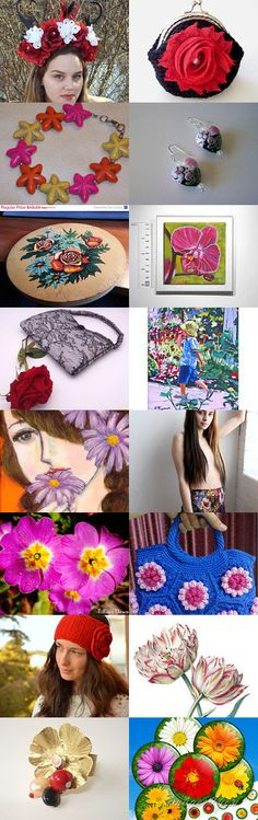 ♡ Everything ♡ Floral! ♡ by Julia Apostolova on Etsy--Pinned with TreasuryPin.com