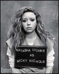 Natasha Lyonne as Nicky Nichols in Orange Is The New Black Orange Is The New Black, Black And White, Natasha Lyonne, Taylor Schilling, Oitnb Nicky, Nicky Nichols, Celebrity Mugshots, Alex And Piper, Streaming Hd