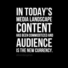 Audience is the new currecy Content Marketing, Marketing And Advertising, Social Media Marketing, 30 Under 30, Youtube Hacks, Marketing Quotes, Online Business, News, Online Video