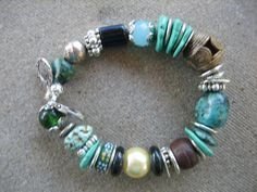 TRIBAL STYLE BRACELET Sundance Turquoise jewelry by harrietlove12, $45.00