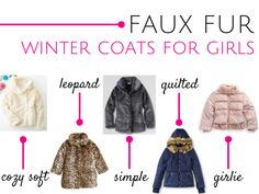 Faux fur winter coats for girls - Savvy Sassy Moms