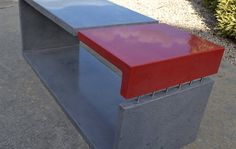 Makers Lane :: Red and Grey Concrete Coffee Custom Made, Bespoke Furniture made in Australia.