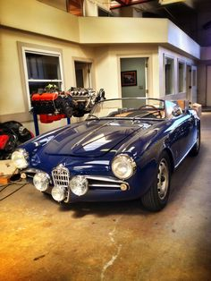 '59 Alfa Romeo. Moal Coachworks in Oakland, California