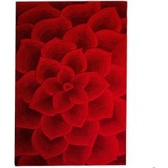 Pier One Rose Tufted Rug - Red 6x9 ($500) ❤ liked on Polyvore