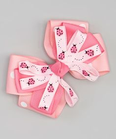 Look at this #zulilyfind! Pink Ladybugs Sunshine Bow Clip by Bubbly Bows #zulilyfinds