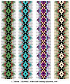 Loom patterns for beadweaving Beading Patterns Free, Seed Bead Patterns, Beaded Jewelry Patterns, Peyote Patterns, Weaving Patterns, Beading Ideas, Crochet Patterns, Loom Bracelet Patterns, Bead Loom Bracelets