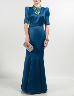 Pin for Later: The Best Black-Tie Gowns For Festive Formal Parties  Deordray Teal Slimline Maxi Dress (£190)