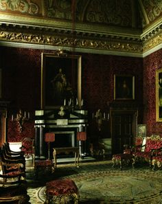 The Saloon at Houghton Hall ~ inspired by William Kent's knowledge of Italian palazzo interiors