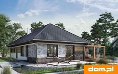 DOM.PL™ - Projekt domu AN TYMOTEUSZ G2 CE - DOM AO10-56 - gotowy koszt budowy Home Fashion, Gazebo, Outdoor Structures, Cabin, House Styles, Home Decor, Deck Gazebo, Cabins, Cottage
