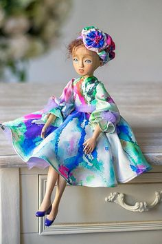 """16/"""" Realistic Porcelain Doll Pincess Girl Blue Dress Braids Xmas Collect Gifts"""