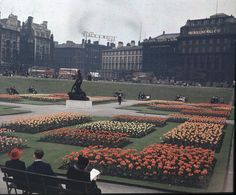 Before the Storm: Piccadilly Gardens 1940 Manchester England, I Love Manchester, Manchester Airport, Old Pictures, Old Photos, Manchester Piccadilly, Rochdale, Salford, Coups