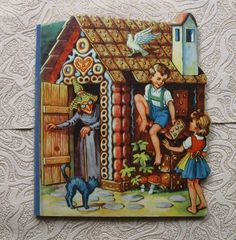 Vintage Kids Book Fairy Tale Brothers Grimm Hansel and Gretel Comics in German