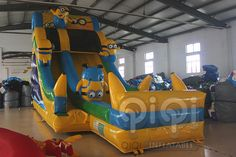 https://flic.kr/p/udzab7 |Get ready for our Great design minion water slide with pool! Yes, for sure, it is new design with splash pool in the front.Minion Despicable Me themed inflatables is always popular and is great for all ages. Features safety netting over climbing area and at the top.Our inflatable minion Despicable Me series slide looks like the real thing and its a ton of fun!  More Info:http://www.qiqi-toys.com/Slide/Minion-Inflatable-Slide-With-Pool-1223.html