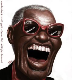 Ray Charles Caricature by Dennis Pfeil