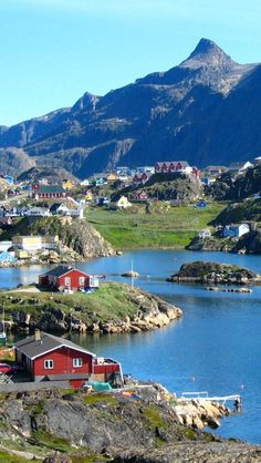 Nuuk, Greenland. Gro beautiful places for travel