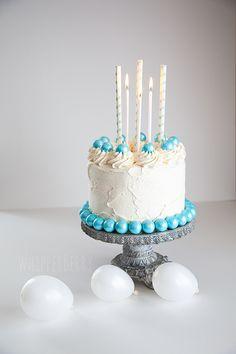 Vanilla Bean Cake...love the gumball border!