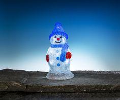 Snögubbe dekorationsbelysning med 10 LED-lampor. Batteridriven julbelysning.3502272