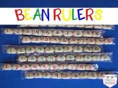 Non-Standard Measurement: How to Make Bean Rulers and Rainbow Rulers (preschool or kindergarten)