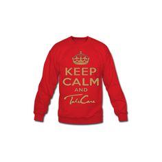 Keep Calm and Take Care Long Sleeve Shirts Men's Crewneck Sweatshirt... ($28) ❤ liked on Polyvore