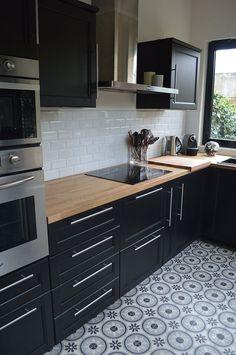 Baldachin Küche: BÔ M. - Baldachin Küche: BÔ M. Home Decor Kitchen, Interior Design Kitchen, New Kitchen, Kitchen Ideas, Black Kitchens, Home Kitchens, Kitchen Black, Cuisines Design, Küchen Design