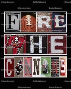 NFL Tampa Bay Buccaneers Framed Alphabet Photo Art by DAMartStudio on Etsy