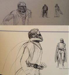 Very early Ralph McQuarrie design sketches for Darth Vader!