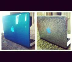 DIY glitter MacBook case @Luuux I wish i can make this