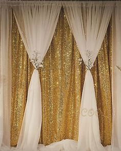 B-COOL Sequin Backdrop Gold 4ft x 6.5ft Sequin Photography Backdrop Weddi... New