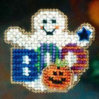 Boo Ghost Halloween Beaded Ornament Kit Mill Hill 2006