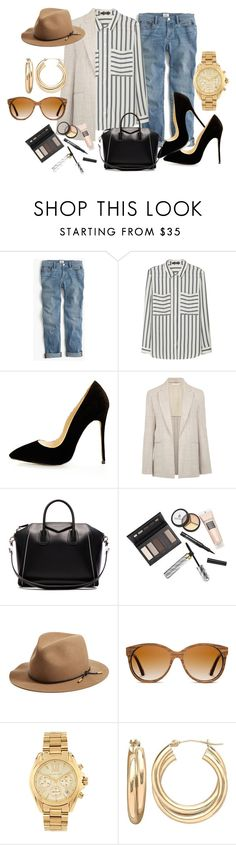 """""""Street Style"""" by tanyakountz ❤ liked on Polyvore featuring J.Crew, MANGO, Nicole Farhi, Givenchy, Borghese, rag & bone, Shwood, Michael Kors and Lord & Taylor"""