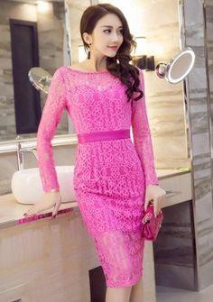 Buy Pattern Lace Mesh Bodycon Dress | mysallyfashion.com Malaysia