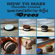 REESES PEANUT BUTTER CUP STUFFED OREOS