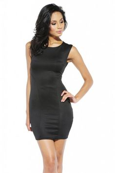 Scuba Fitted Backless Dress - SoCoCo Boutique
