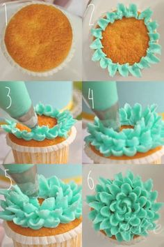 Tutorial - flower cupcake Tutorial cupcake a fiore