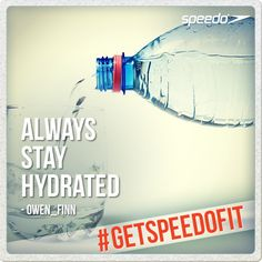 Tips for keeping fit in the pool: Always stay hydrated. Tell us your tip & enter the competition now at: http://instagram.com/speedo #getspeedofit