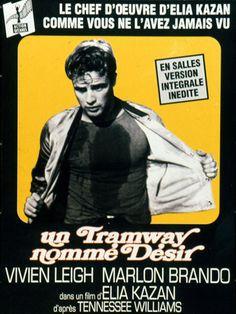 Un Tramway nommé désir est un film de Elia Kazan avec Vivien Leigh, Marlon Brando. Synopsis : Après une longue séparation, Blanche Dubois vient rejoindre sa soeur, Stella, à La Nouvelle-Orléans. Celle-ci vit avec son mari, Stanley, ouvrier d'or
