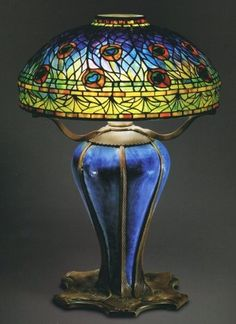 Peacock Lamp (1900-1906) by Clara Driscoll.