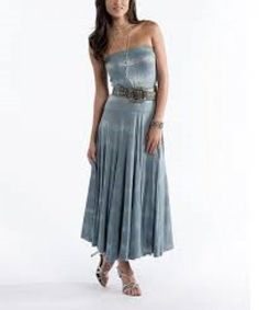 Strapless Dress Southwest Style Size XS Blue Silver Casual Cowgirl Soft #RanchoEstancia #maxi #casualmaxidress #fashiongoals #summerskirts #summerdresses #cowgirldresses #cowgirl #ranchlife #womenswesternwear