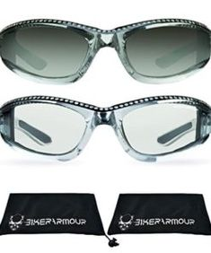 Womens Foam Padded Motorcycle Sunglasses-PINK//SILVER CHROME-Flash Mirror Lens