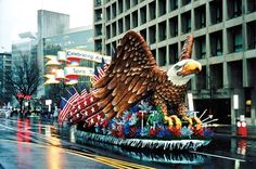 George H.W. Bush, 1989: This float was paired with another of the former World War II aviator's planes. The Statue of Liberty lives with a cootie. Or rather, a model of the New York City landmark and a giant rendering...