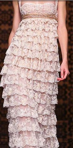 Tony Ward Would be much prettier if it was shorter or if the ruffles gradually became longer going down
