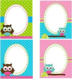 Tarjetas de buhos para baby shower - Imagui