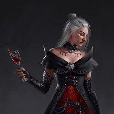 Fantasy Women, Dark Fantasy Art, Fantasy Girl, Fantasy Artwork, Female Vampire, Vampire Girls, Vampire Art, Dnd Characters, Fantasy Characters