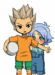 Omg ♡ Little Gouenji and Fubuki    Inazuma Eleven