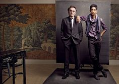 from her series on directors & their muse // photo by Annie Liebovitz // love that backdrop
