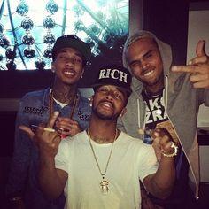 Tyga, Omarion, & Chris Brown