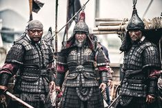 'Roaring Currents' Still Drawing Movie Goers Yi Sun Sin, Larp, Chinese Armor, Armor Clothing, Classical Antiquity, Sword Fight, Make Millions, Korean Traditional, Costumes