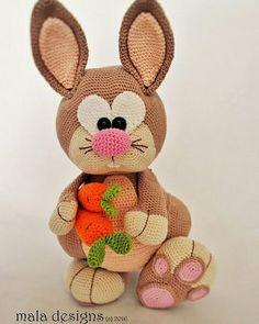 Mesmerizing Crochet an Amigurumi Rabbit Ideas. Lovely Crochet an Amigurumi Rabbit Ideas. Crochet Bunny Pattern, Easter Crochet Patterns, Crochet Rabbit, Crochet Amigurumi Free Patterns, Crochet Crafts, Crochet Dolls, Crochet Projects, Free Crochet, Diy Crafts